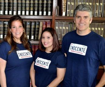 Audrey McGinn, Ruby Anaya, y Justin Brooks